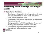 reporting audit findings in a single audit15