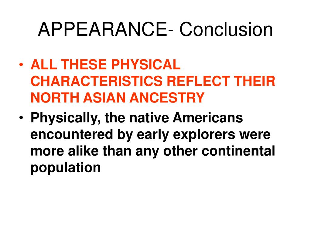 APPEARANCE- Conclusion