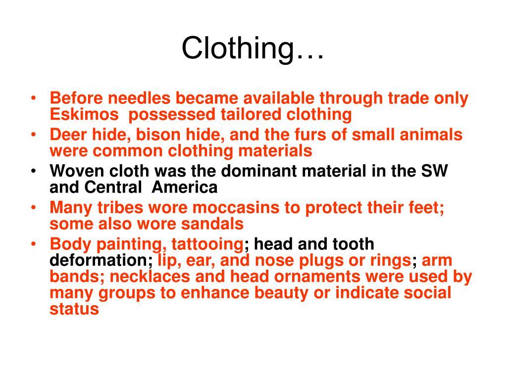 Clothing…