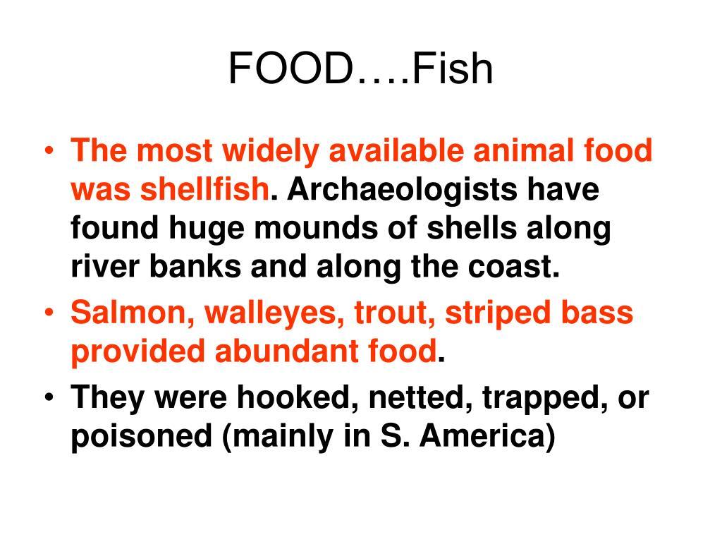 FOOD….Fish