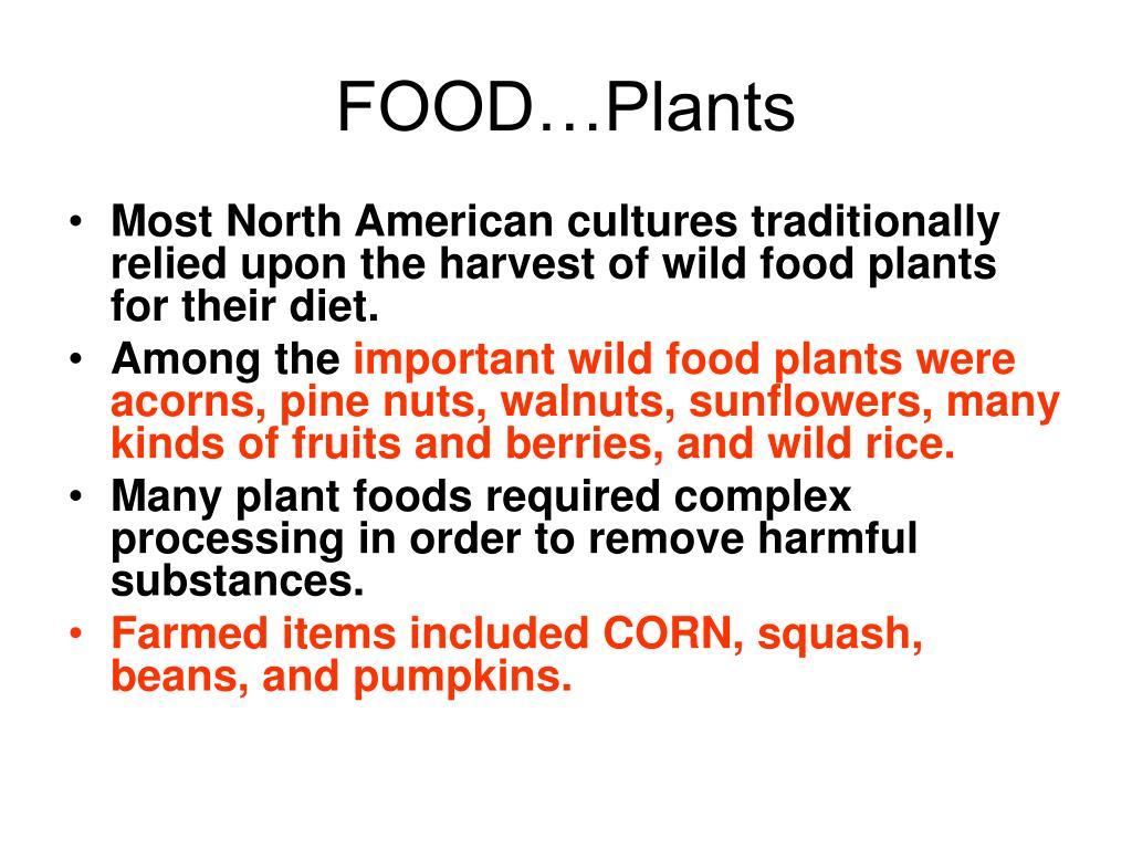 FOOD…Plants