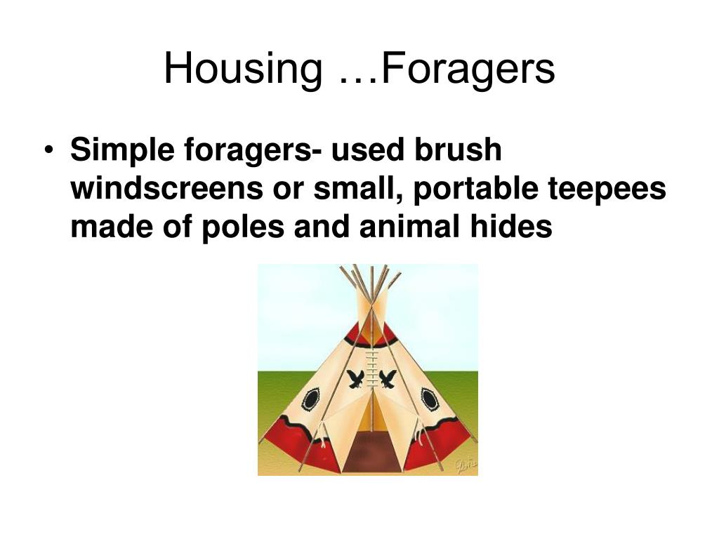 Housing …Foragers