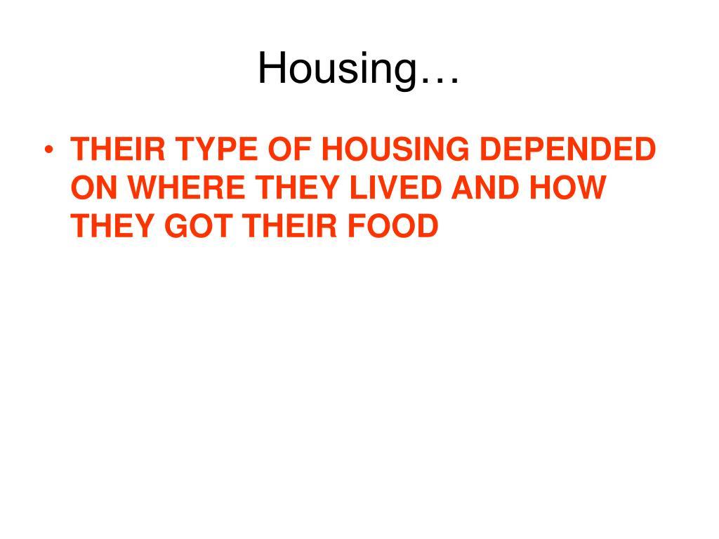 Housing…