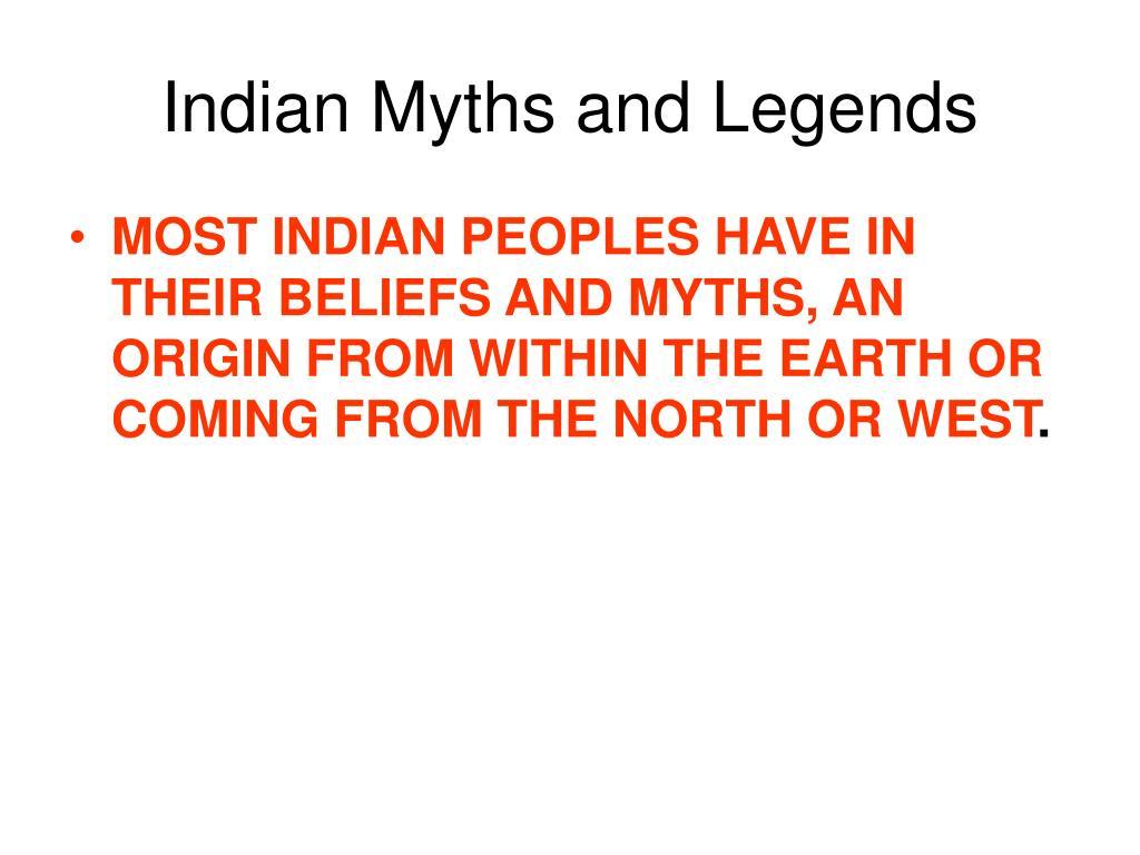 Indian Myths and Legends