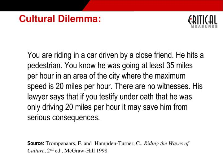 Cultural Dilemma: