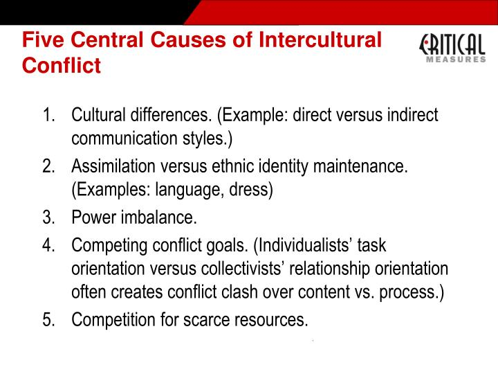 Five Central Causes of Intercultural Conflict