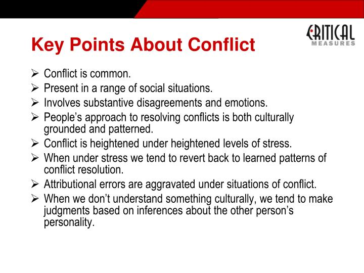 Key Points About Conflict
