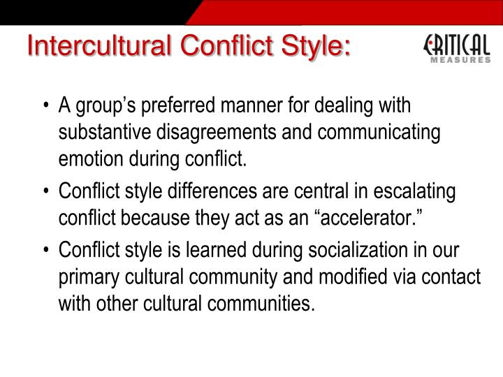 Intercultural Conflict Style: