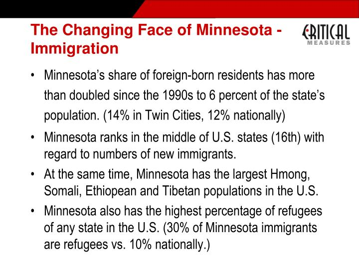 The Changing Face of Minnesota - Immigration