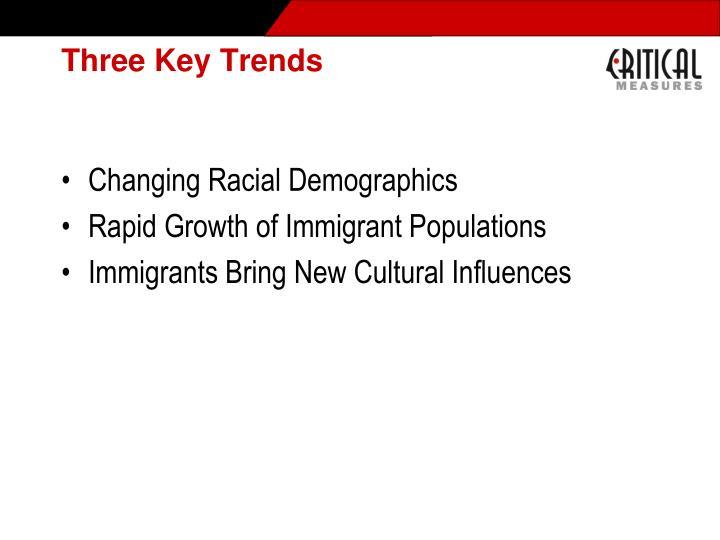 Three Key Trends