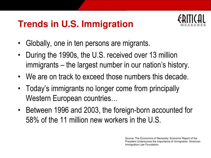 Trends in U.S. Immigration