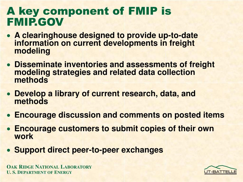 A key component of FMIP is FMIP.GOV