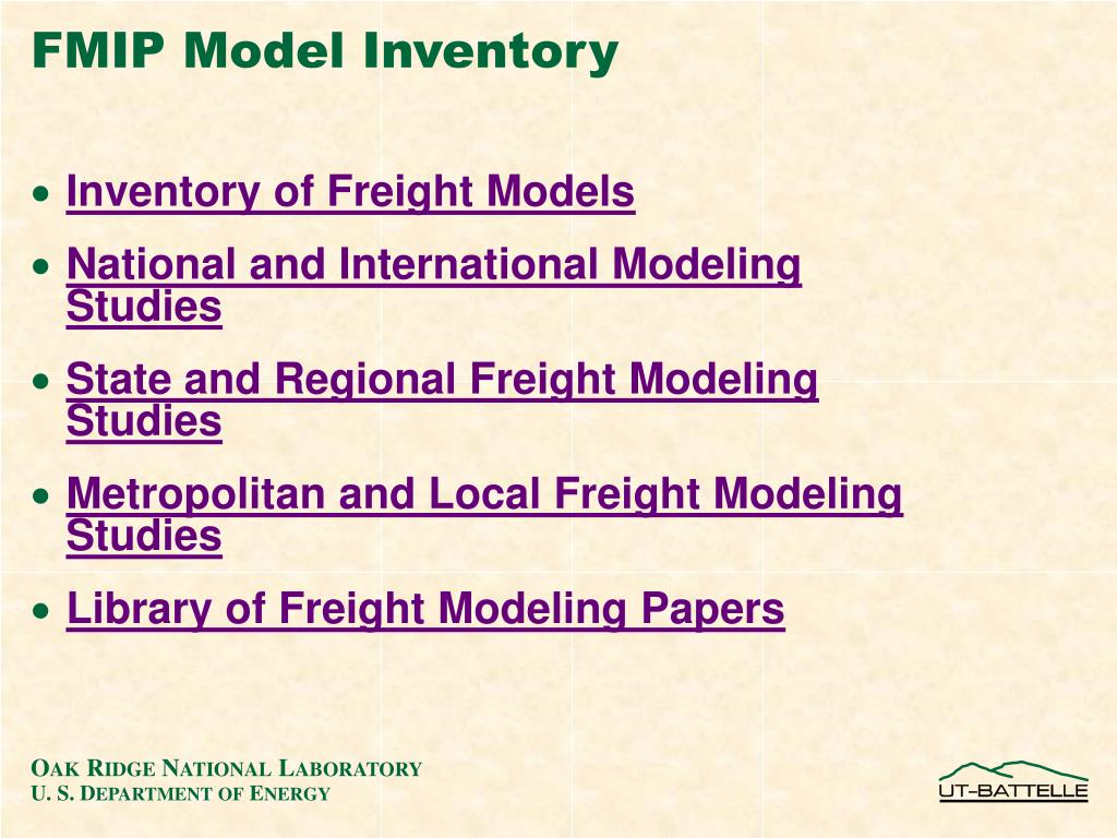 FMIP Model Inventory