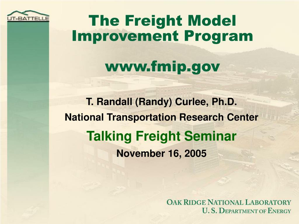 the freight model improvement program www fmip gov l.