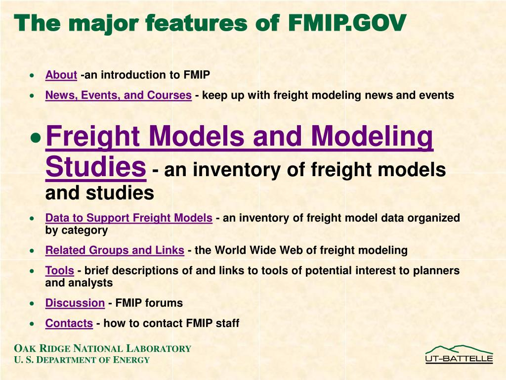 The major features of FMIP.GOV