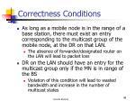 correctness conditions