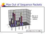 max out of sequence packets