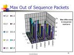 max out of sequence packets74