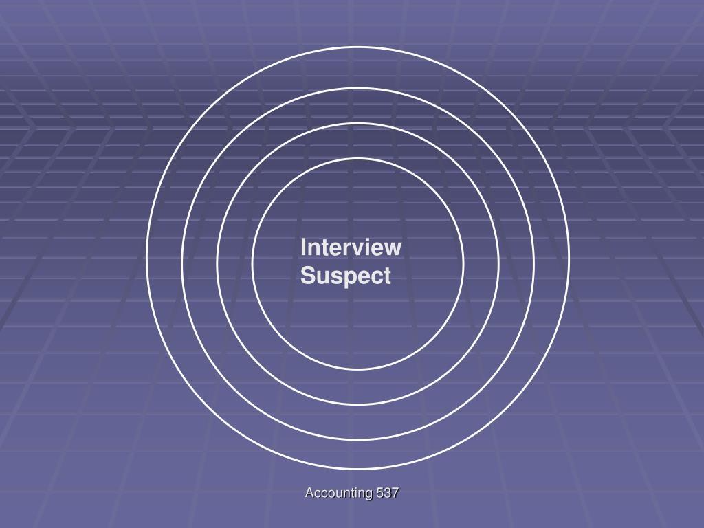 Interview Suspect