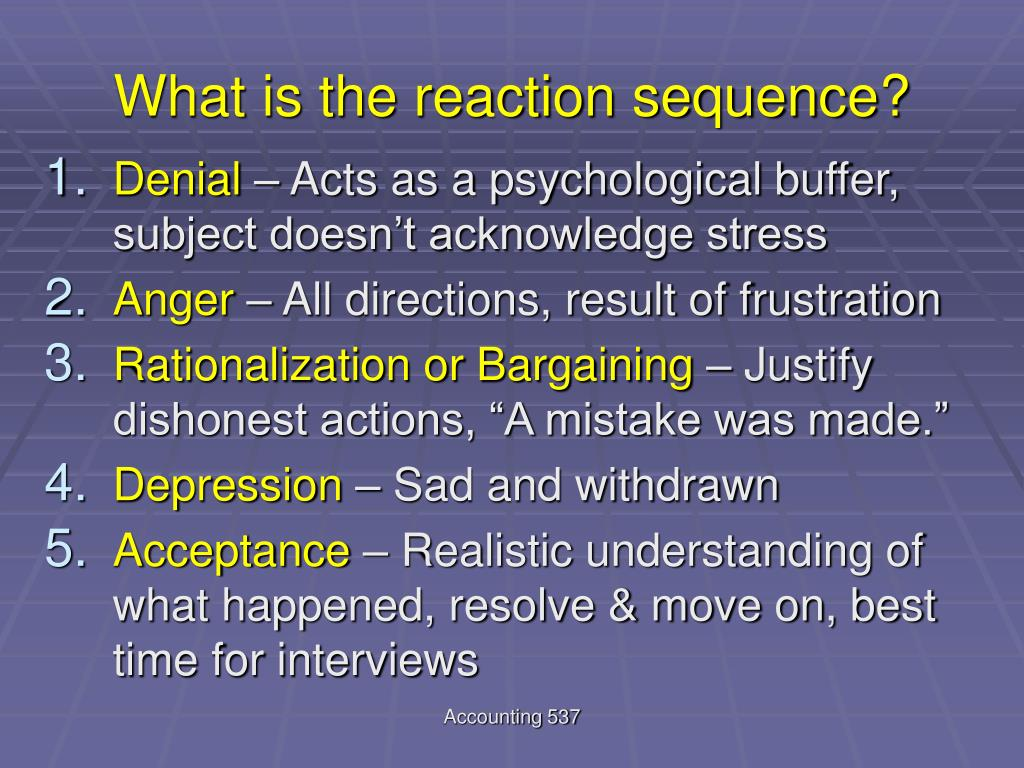 What is the reaction sequence?