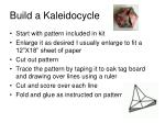 build a kaleidocycle