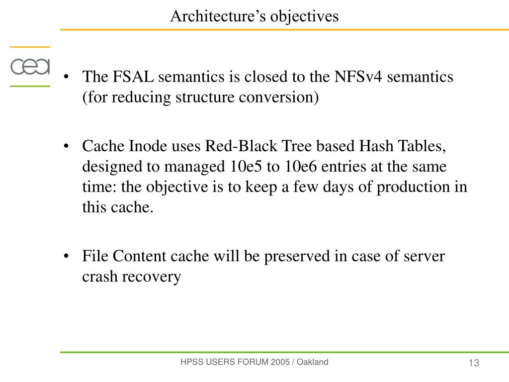 The FSAL semantics is closed to the NFSv4 semantics (for reducing structure conversion)