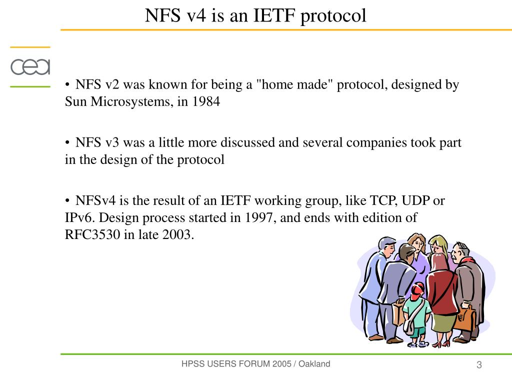 "NFS v2 was known for being a ""home made"" protocol, designed by Sun Microsystems, in 1984"