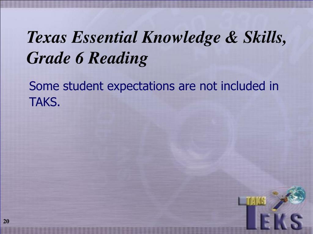 Texas Essential Knowledge & Skills,