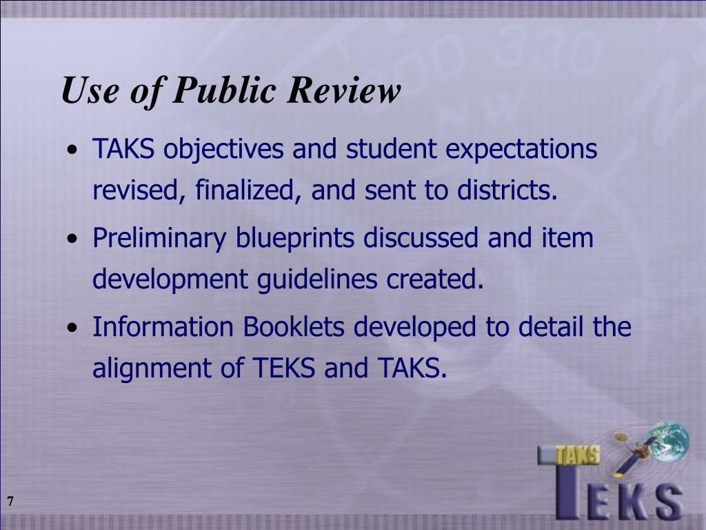 Use of Public Review