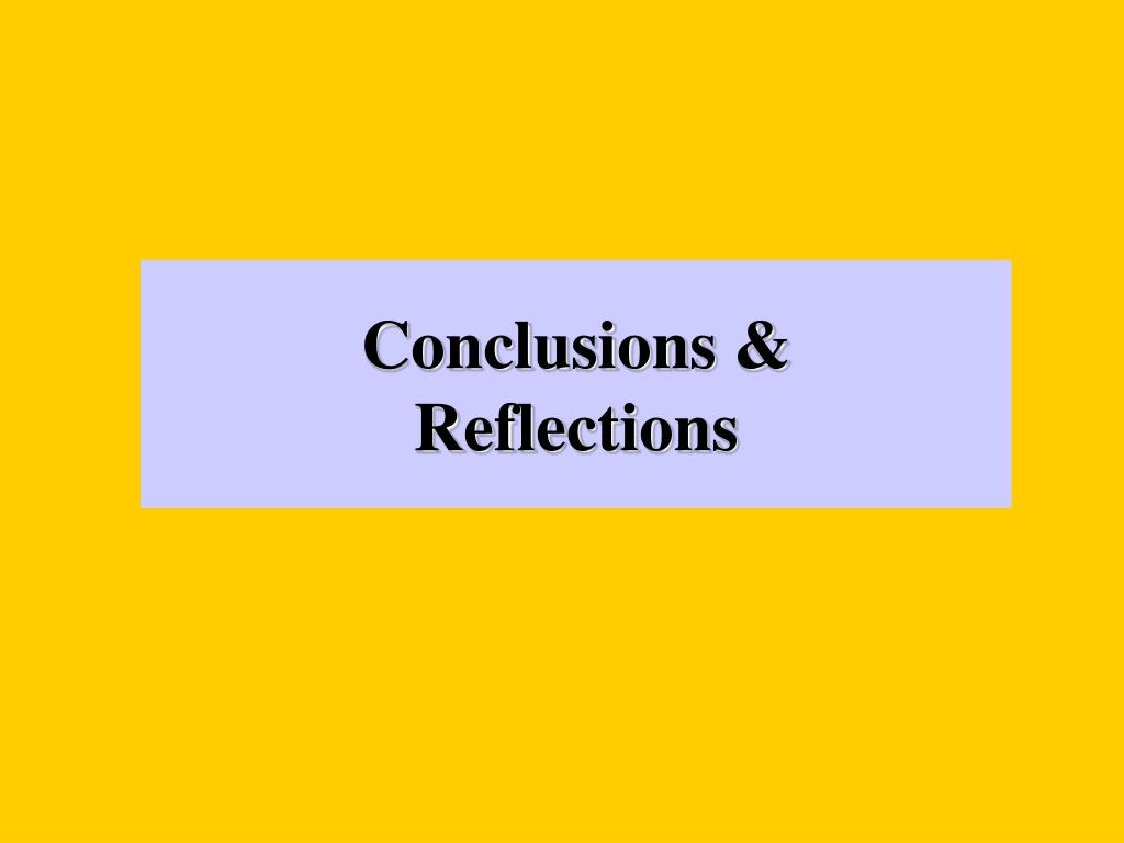 Conclusions &