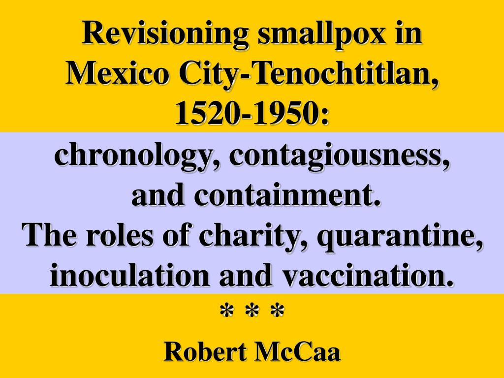 Revisioning smallpox in