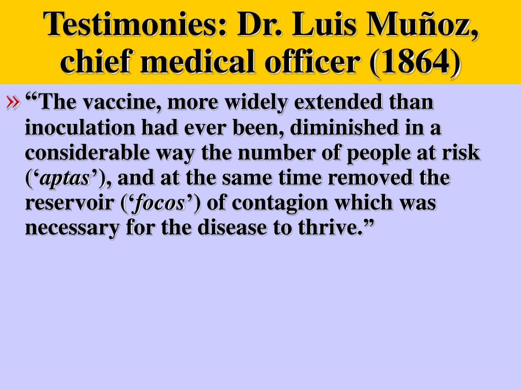 Testimonies: Dr. Luis Mu