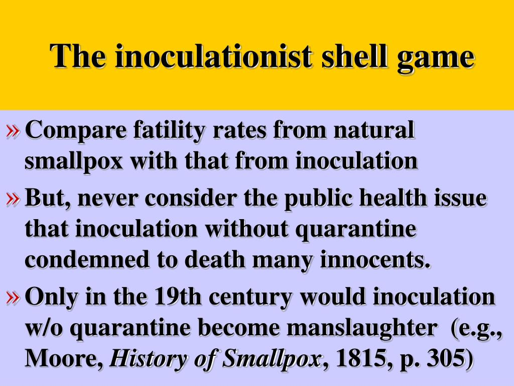 The inoculationist shell game