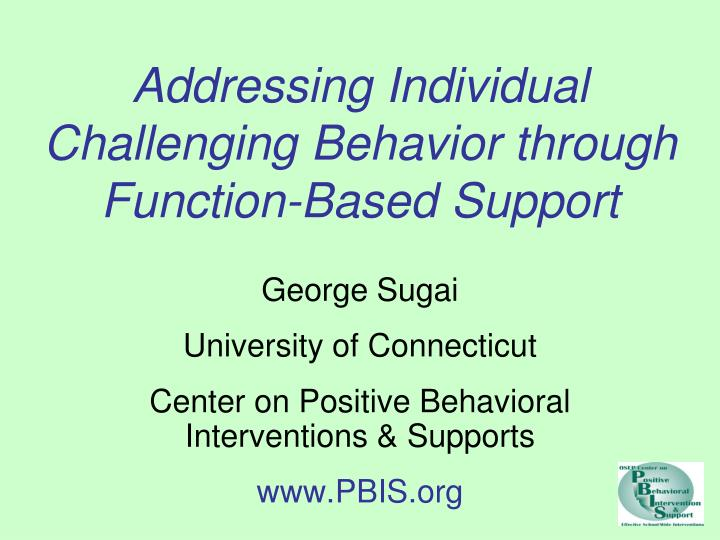 functions of challenging behavior Free essay: challenging behaviors in young children and their functions anastasia sims ece201: intro to early childhood behavior management (acp1116b) june.