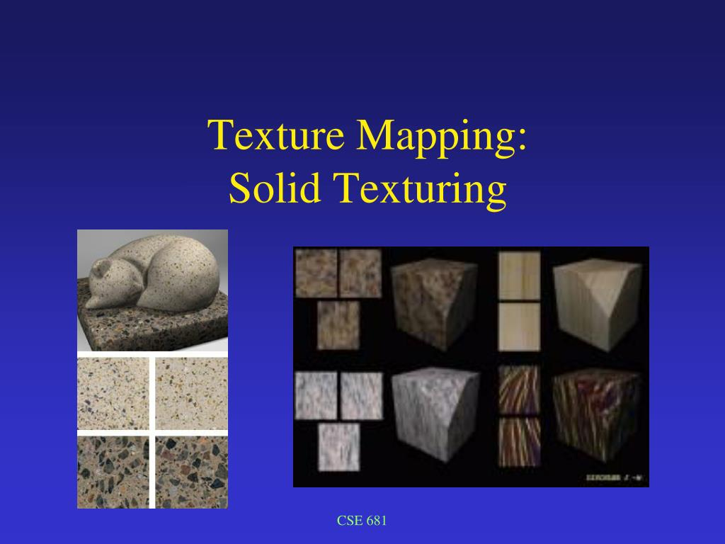 texture mapping solid texturing l.