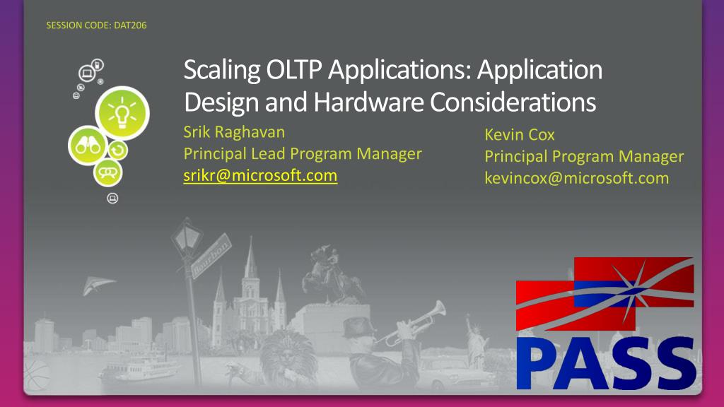 scaling oltp applications application design and hardware considerations l.