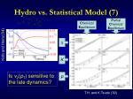hydro vs statistical model 7