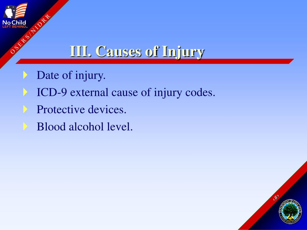 III. Causes of Injury