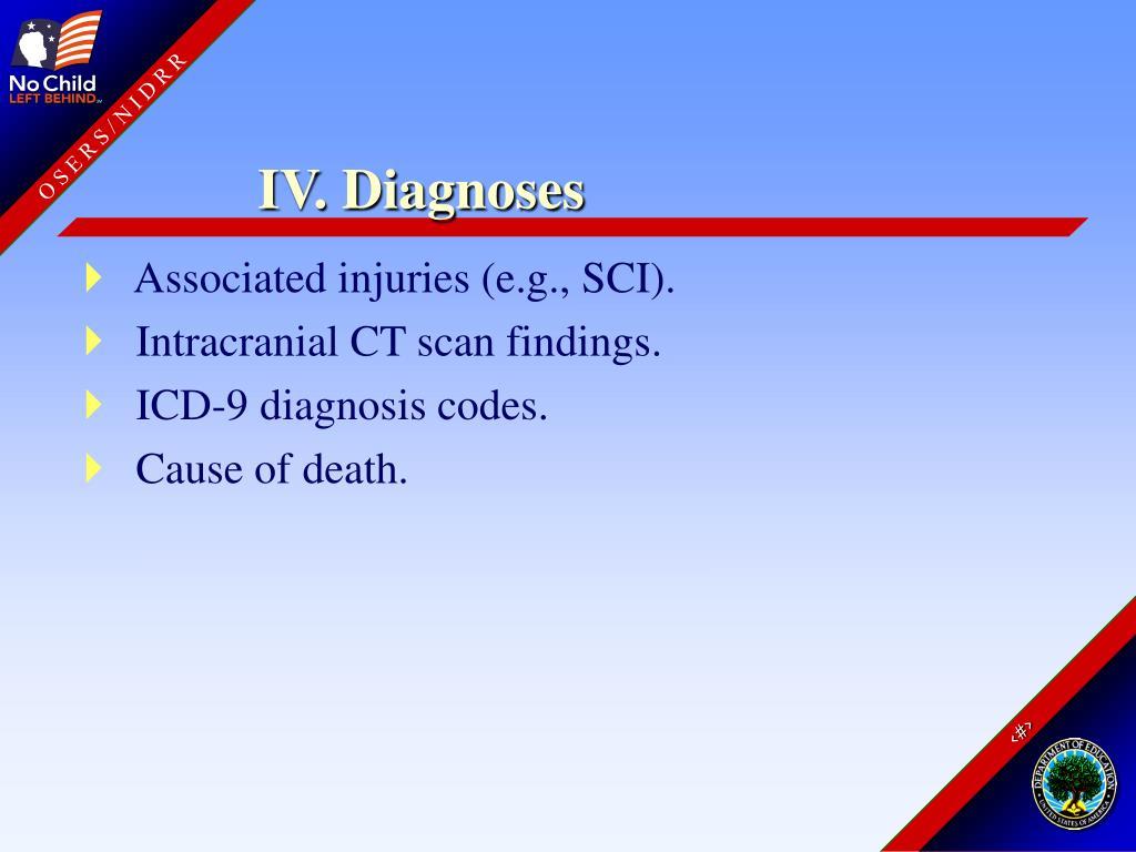 IV. Diagnoses