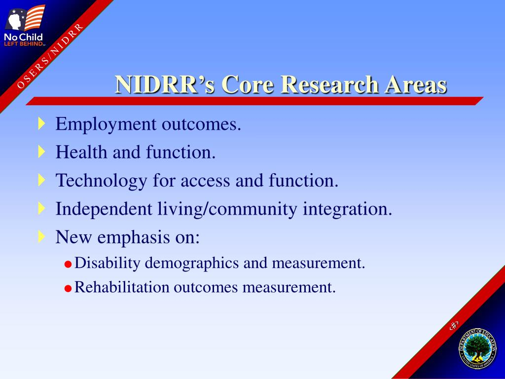 NIDRR's Core Research Areas