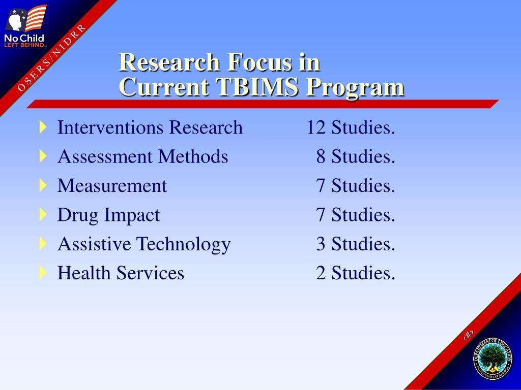 Research Focus in