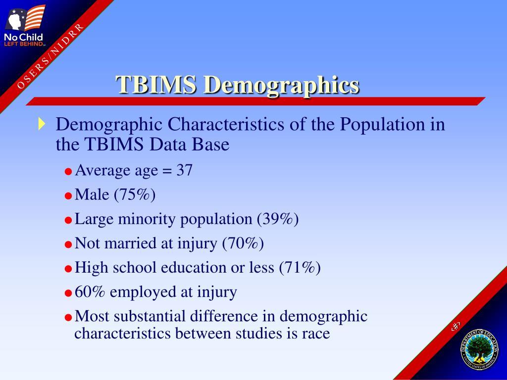 TBIMS Demographics