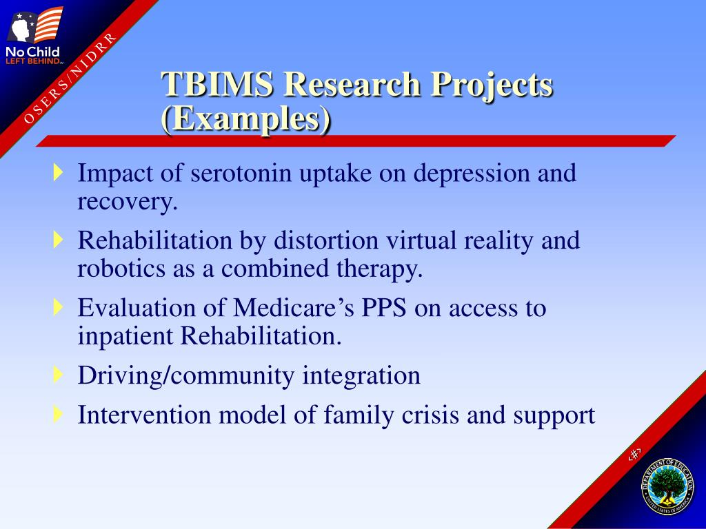 TBIMS Research Projects (Examples)