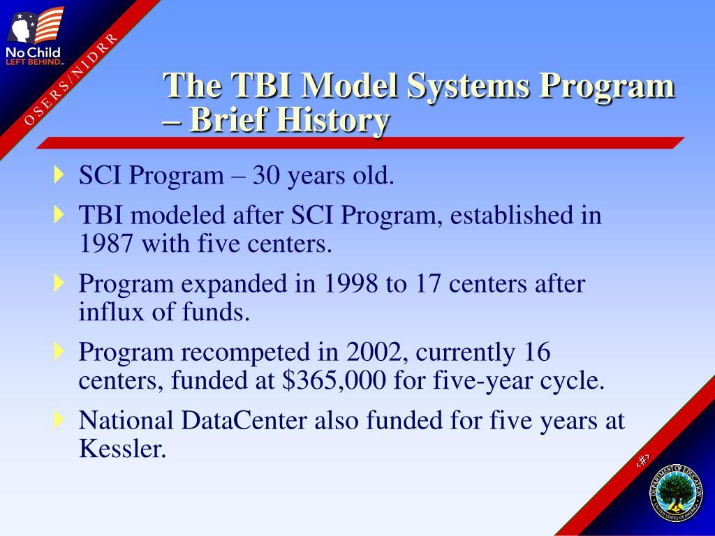 The TBI Model Systems Program