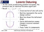 lorentz detuning