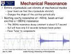 mechanical resonance