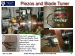 piezos and blade tuner