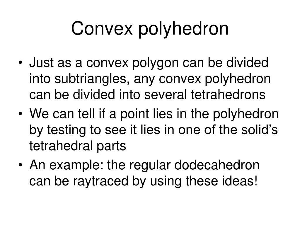 Convex polyhedron
