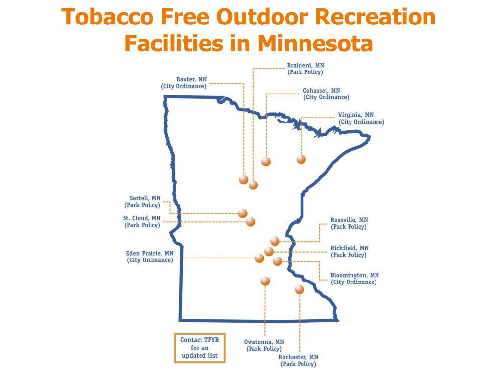 Tobacco Free Outdoor Recreation Facilities in Minnesota