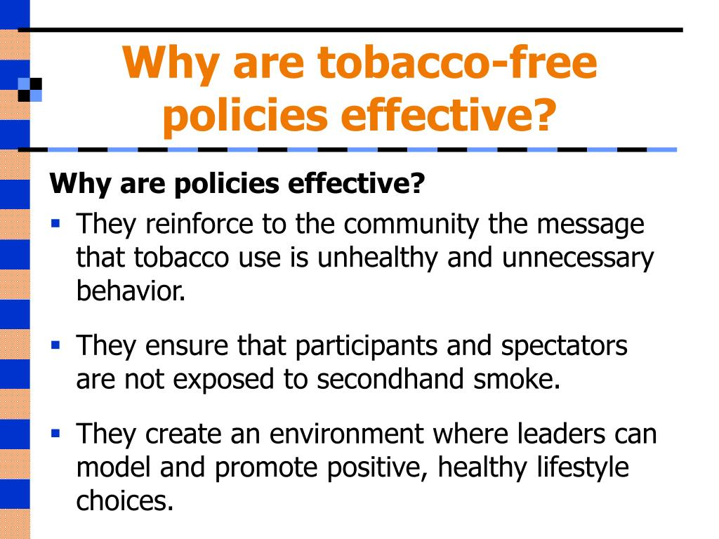 Why are tobacco-free